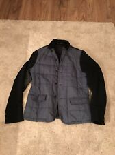 """All Saints Imbottito Cappotto Giacca in pelle sulle spalle SZ MEDIUM 40"""" RRP £ 210"""