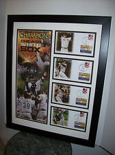 MLB CHICAGO WHITE SOX 2005 WORLD SERIES USPS FRAMED MATTED PHOTO AND COVERS