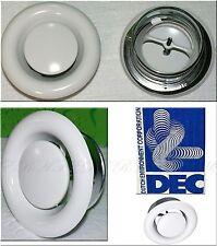 DEC Luftung Teller Decken ventil Weis DVSP150mm Zuluft Anemostat Bad WC L1