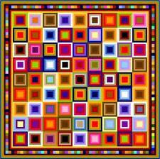 """QUIBBLING - 107"""" - Pre-cut Quilt Kit by Quilt-Addicts Large King size"""