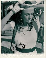 JACQUELINE BISSET hand-signed THE DEEP 8x10 w/ uacc rd coa WET TOP IN SCUBA GEAR