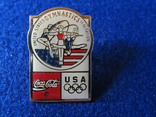 1980's Olympic USA Gymnastics Coca Cola pin pinback tac sports souvenir games