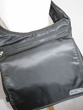 Fossil Messenger Bag Black Nylon Crossbody Adjustable Strap Cell Phone Pouch NEW