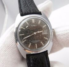 "TIMEX,1976,Automatic.""Round Date/Just dial"",CLASSIC!  Leather MEN'S WATCH,738"