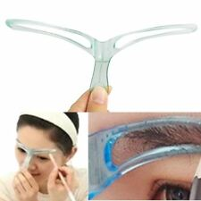 UK Eyebrow Shaper Shaping Makeup Grooming Tool Template Stereo Stencil Brow NEW