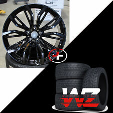"""22"""" 375 Style Wheels fits BMW X5 X6 X5M Rims Gloss Black Finish with Tires New"""
