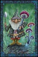 Magic Mushroom Harvest Gnome [Maxi POSTER 61x91cm] Hippy Trippy Fantasy NEW Art