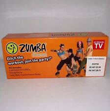 Zumba fitness tonifiant sticks + 4 dvd et guide livre exercice dance workout boxed
