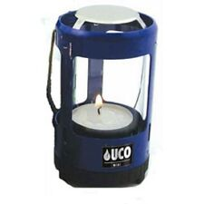 NEW UCO Mini Candle Lantern Blue Aluminum Tealight Candle Tent Light & Warmth