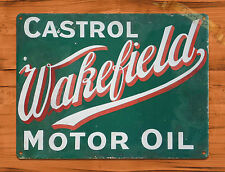 "TIN-UPS TIN SIGN ""Castrol Wakefield"" Oil Vintage Garage Wall Decor"