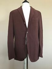 NWT Boglioli 'Coat' Unstructured Silk Cotton Cocoa Sport Coat 50 Slim 40 Italy