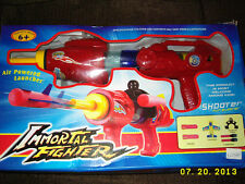 IMMORTAL FIGHTER AIR POWERED LAUNCHER SOFT DARTS AND AIRPLANE NERF GUN SET