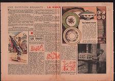 Porcelaine de Limoges porcelain France Ruhr Germany/Bergson 1946 ILLUSTRATION