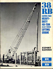 Ruston Bucyrus 38 RB Series Two Heavy-Duty 40-Ton lifting crane export ratings