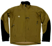 #4505 MOUNTAIN HARDWEAR BROWN FULL ZIP SOFTSHELL JACKET MENS MEDIUM
