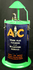 Vintage AC Spark Plug Cleaning Re-Gapping Machine Petroliana Advertising Display