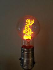 Vintage light bulb Reddy Kilowatt Aerolux figural filament bulb original box