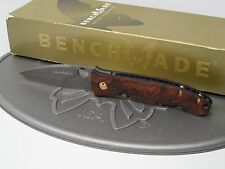 Benchmade 745-81 Mini-Dejavoo Gold Class Damascus Ironwood Bob Lum Folding Knife