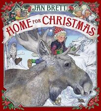 HOME FOR CHRISTMAS by Jan Brett Hardcover Children's picture book reindeer