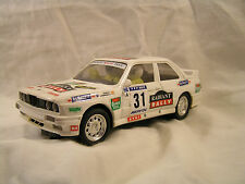 """SCX BMW E30 M3 #31 """"Radiant Rally"""" 1/32-Scale Used lighted Toy Slot Car White"""