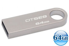 KINGSTON 64GB 64G Data Traveler DT SE9 USB Flash Pen Key Ring Drive Memory Stick