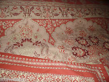 POTTERY BARN TASCHA PALAMPORE FLORAL PERSIMMON/RED/TAN 3PC FULL/QUEEN DUVET SET