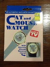 Cat and Mouse Watch As Seen On TV Moving Mouse Second Hand NEW BATTERY!