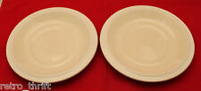 Set of 2 Vintage Hornsea White Ivory Fleur Saucers Only Replacement  AS-IS