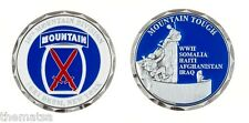 """ARMY FORT DRUM 10TH MOUNTAIN DIVISION 1.75"""" MILITARY CHALLENGE COIN"""