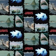 "Universal Jaws Shark Torn Patches 100% cotton 43/44"" fabric by the yard"