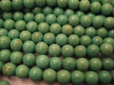 Green Magnesite Round 10mm Beads 42pcs