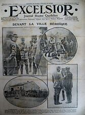WW1 BATAILLE VERDUN JOFFRE PETAIN HUMBERT YPRES DECAUVILLE EXCELSIOR 28/2/1916