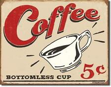 USA Coffee Shop Vintage Design Retro Kaffee Bar Küche Schild