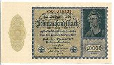 GERMANY , 10000 MARK, P#72,  1922, AU/UNC