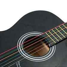 Hot Sale 1 Set 6pcs Rainbow Colorful Color  Steel Strings for Acoustic Guitar