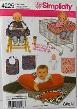 Simplicity Pattern #4225 Baby Accessories Quilt Pillow Bunny Cart Seat Toys