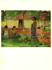 """1972 Vintage GAUGUIN """"WHY ARE YOU ANGRY?"""" TAHITI COLOR offset Lithograph"""