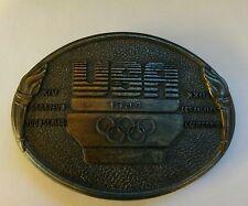 1984 LOS ANGELES SUMMER OLYMPIC BRASS BELT BUCKLE