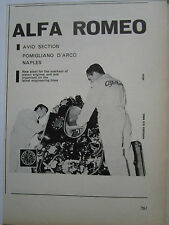 1960'S PUB ALFA ROMEO AVIO POMIGLIANO ARCO REPAIR OVERHAUL ENGINE ORIGINAL AD