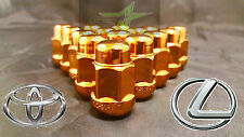 20 ORANGE LUG NUTS 12X1.5 | FITS- TOYOTA, LEXUS, SCION, AFTERMARKET WHEELS LUGS