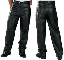 Classic Loose Fit Men's Leather Pants by Xelement size 38