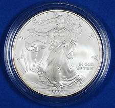 2008-W 'Burnished' American Silver Eagle 1 oz. $1 Face Value - Original Packing
