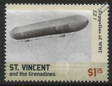 WWI Luftschiff Zeppelin LZ.1 A-Class Experimental German Airship Stamp