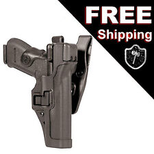BLACKHAWK 44H117BK Level 3 Serpa Duty Holster Right Hand Black H&K HK P-30/P-2