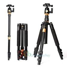 Professional Aluminum Travel Tripod Monopod + Ball head for DSLR Camera Portable