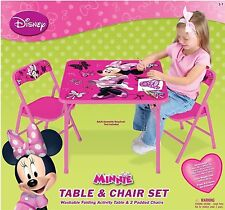 Disney Minnie Mouse Clubhouse Kids Activity Folding Table and Two Chairs Set NEW