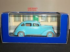 TINTIN NO.25 LES 7 BOULES DE CRISTAL COMIC BLUE FORD V8 DIECAST MODEL CAR