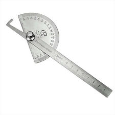 New Steel Protractor Angle Finder Rule Measure Tool for Machinist Designer