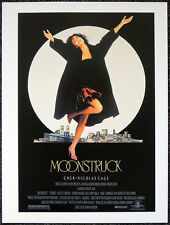 MOONSTRUCK 1987 FILM MOVIE POSTER PAGE . CHER NICHOLAS CAGE . E36