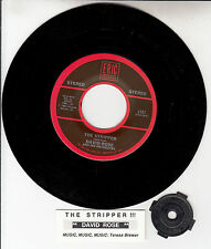 "DAVID ROSE The Stripper 7"" 45 rpm vinyl record NEW + juke box title strip"